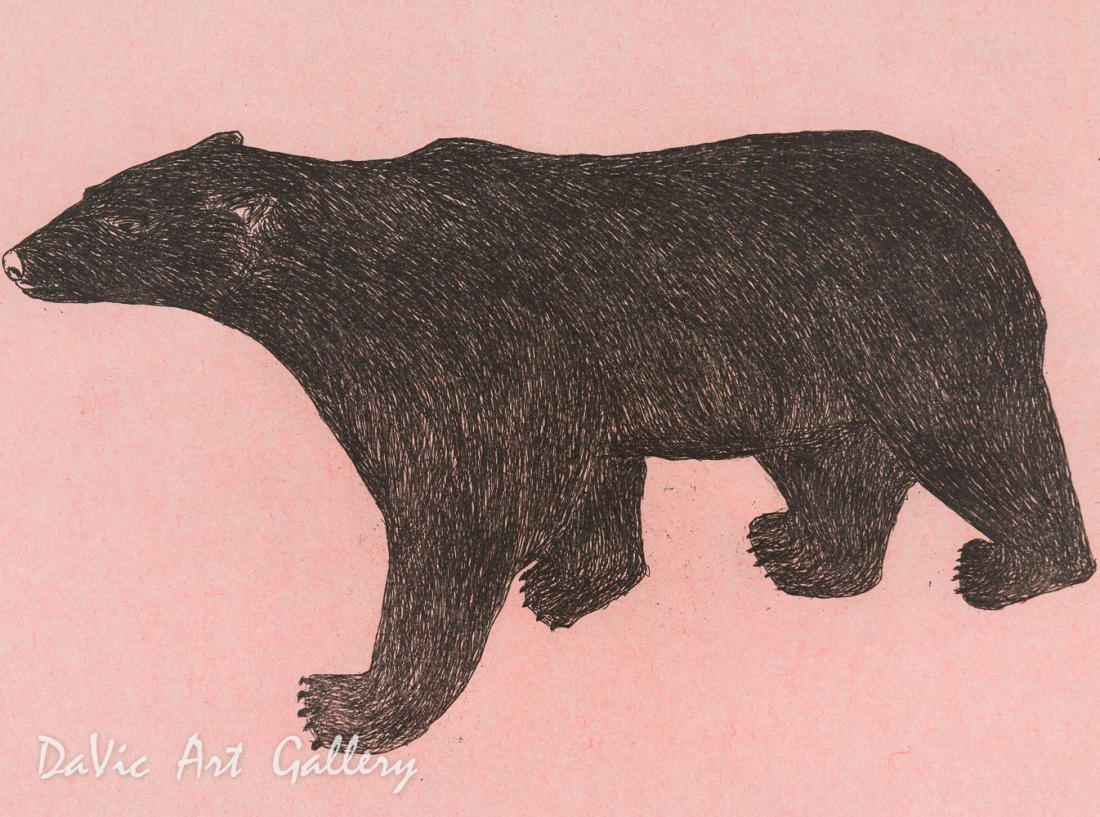 'Prowling Bear' by Ohito Ashoona
