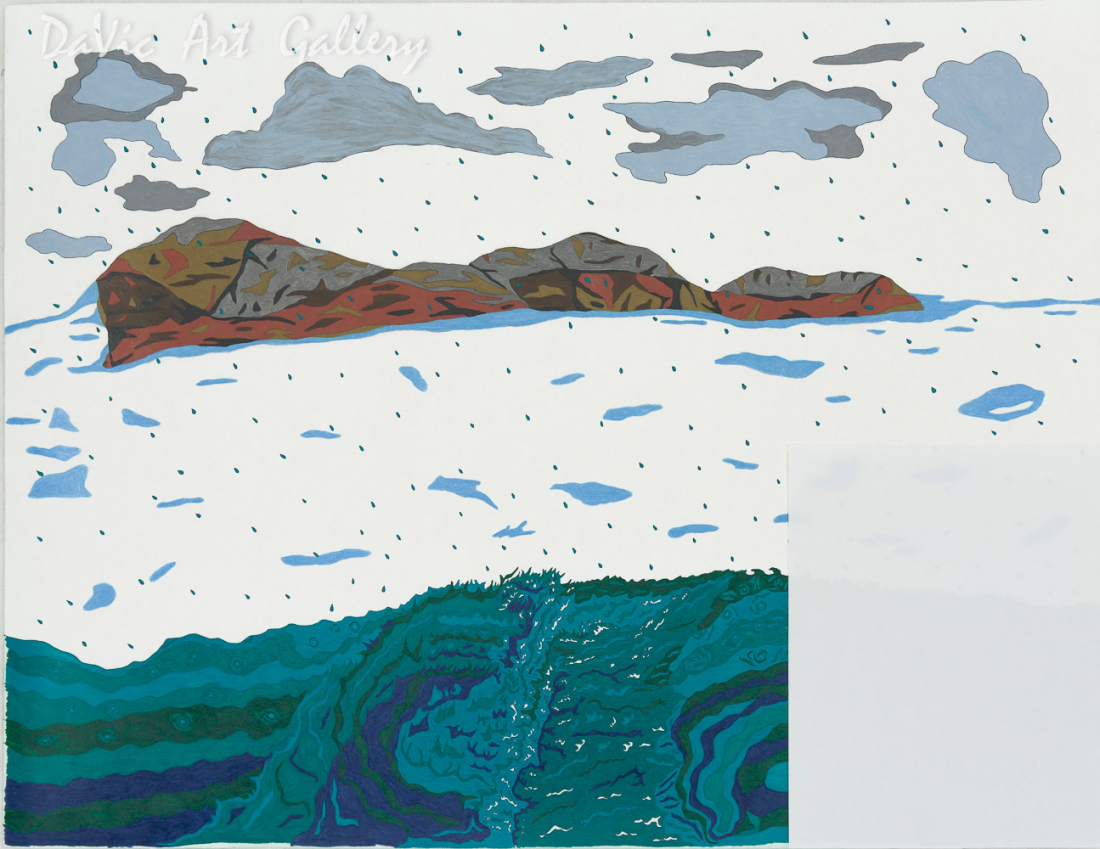 Untitled (Rough Seas) by Ooloosie Saila