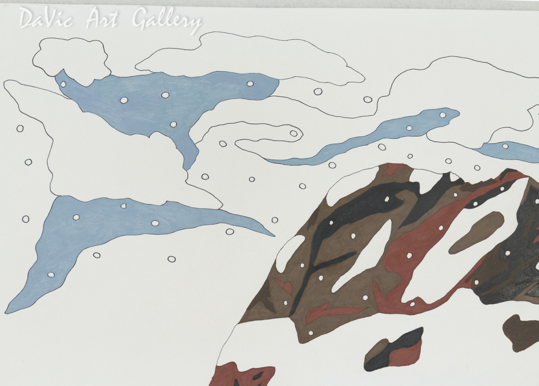Untitled (Snowy Mountain) by Ooloosie Saila