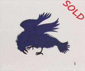 'Electric Raven' by Quvianaqtuk Pudlat