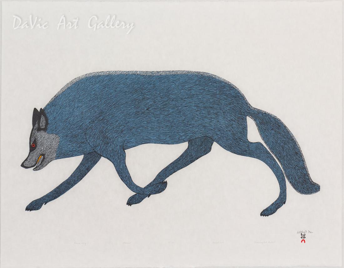 'Tundra Wolf' by Quvianaqtuk Pudlat