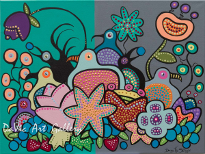 'The Berry Birdies Harvest II' by Donna the Strange
