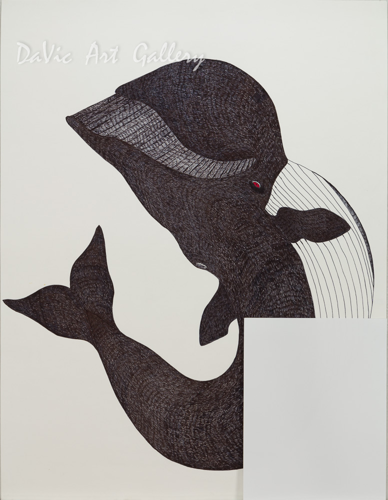 Untitled 'Blue Whale' by Quvianaqtuk Pudlat