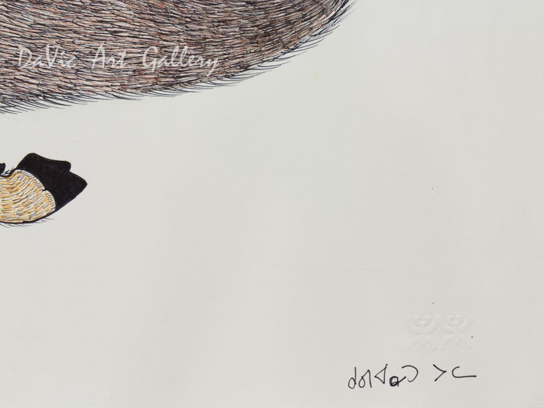 Untitled 'Charging Muskox' by Quvianaqtuk Pudlat