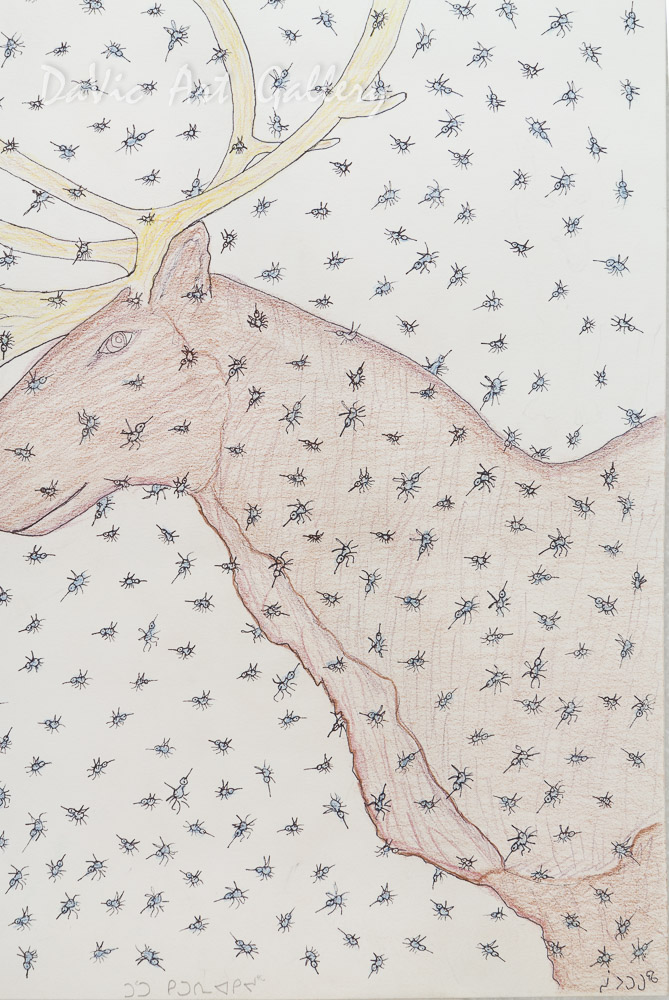 'Caribou and Mosquitoes' by Cee Pootoogook