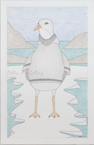 Untitled 'Bird Shaman' by Qavavau Manumie