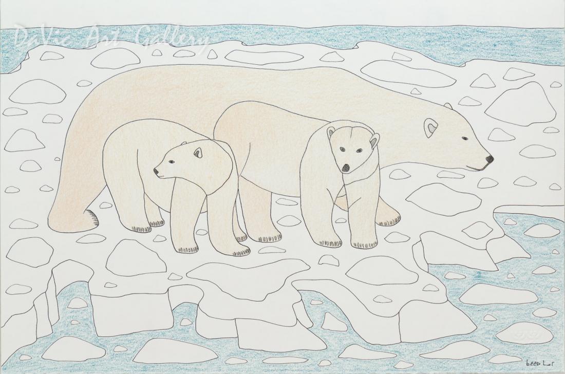 Untitled 'Melting Ice' by Qavavau Manumie