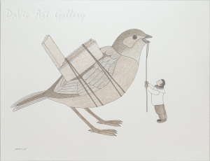 Untitled 'Preparing for Flight' by Qavavau Manumie