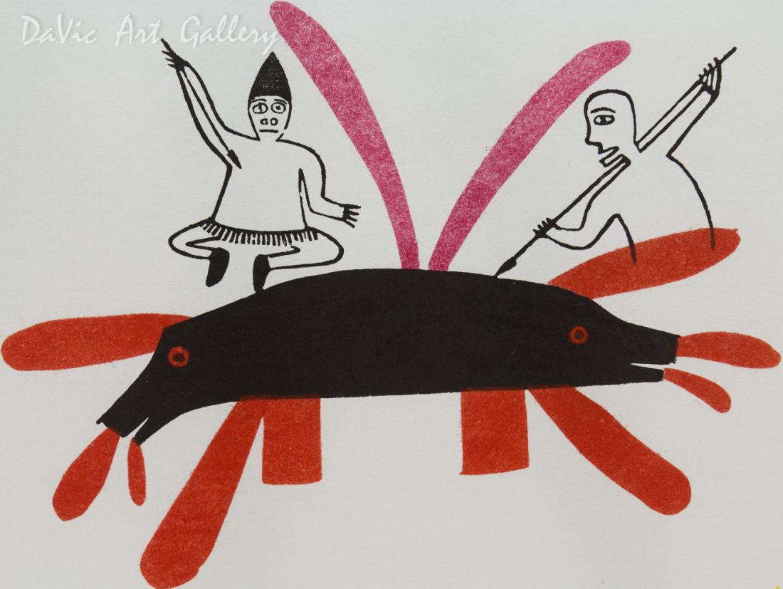 'Whales' by Jessie Oonark