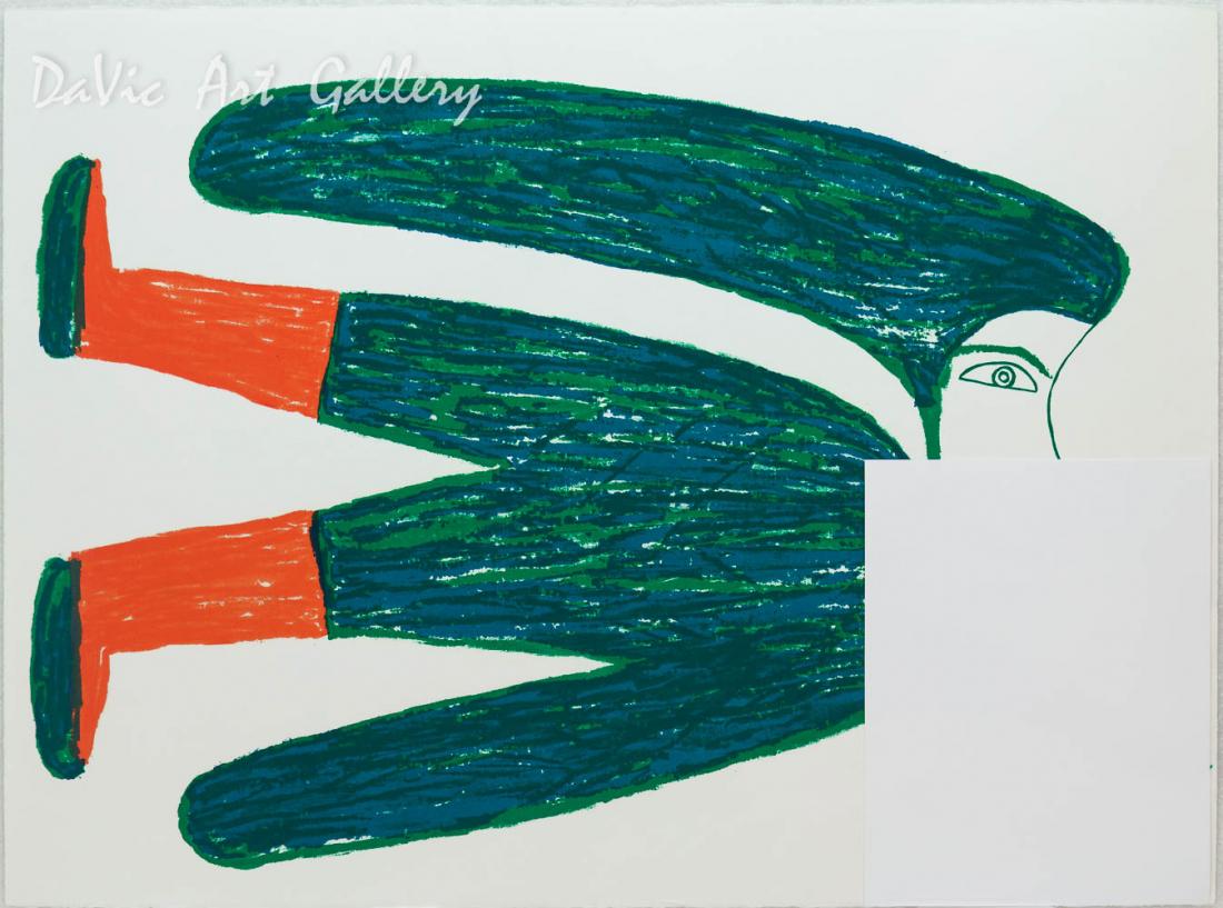 'Flying Woman' by Jessie Oonark