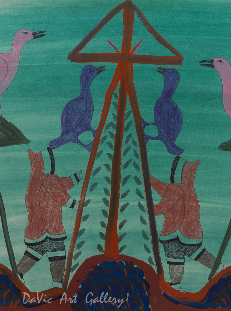'Chasing Geese' by Eegyvudluk Ragee