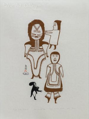 'People of the Inland' by Jessie Oonark (Una)