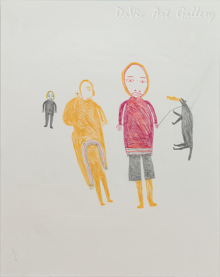Untitled (Family and Dog) by Luke Anguhadluq
