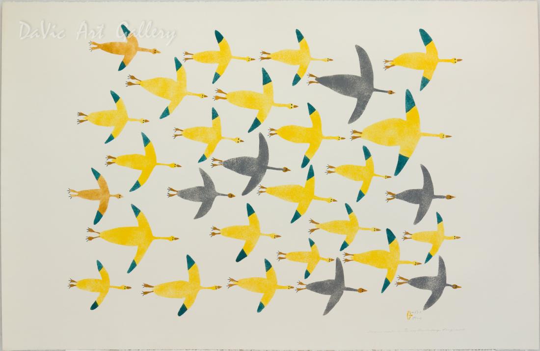 'Geese in September' by Luke Anguhadluq