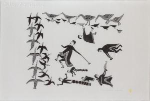 'Geese Hunting' by Jessie Oonark