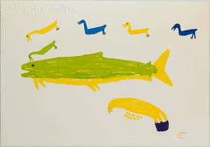 'Seagulls Chasing Fish' by Luke Anguhadluq