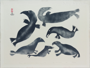 'Family of Whales' by Kiakshuk