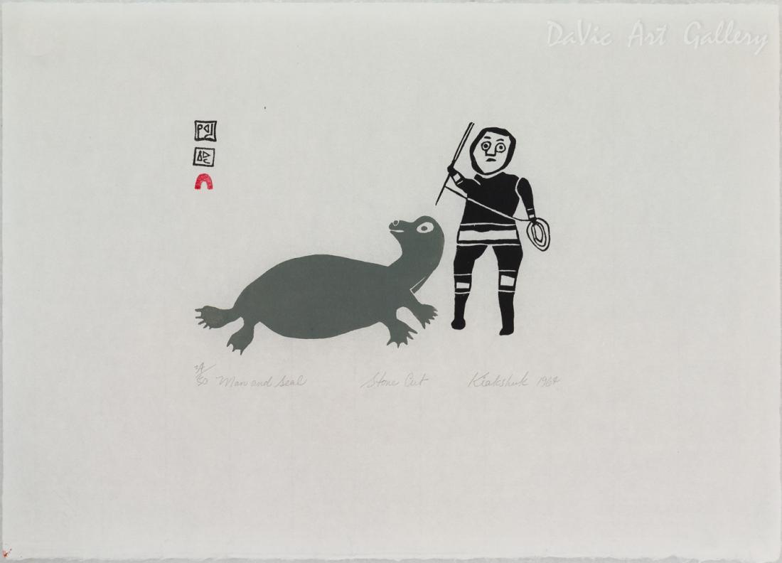 'Man and Seal' by Kiakshuk