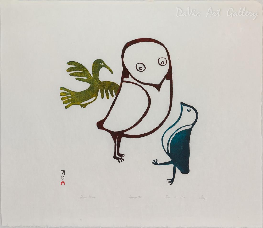 'Three Birds' by Lucy Qinnuayuak