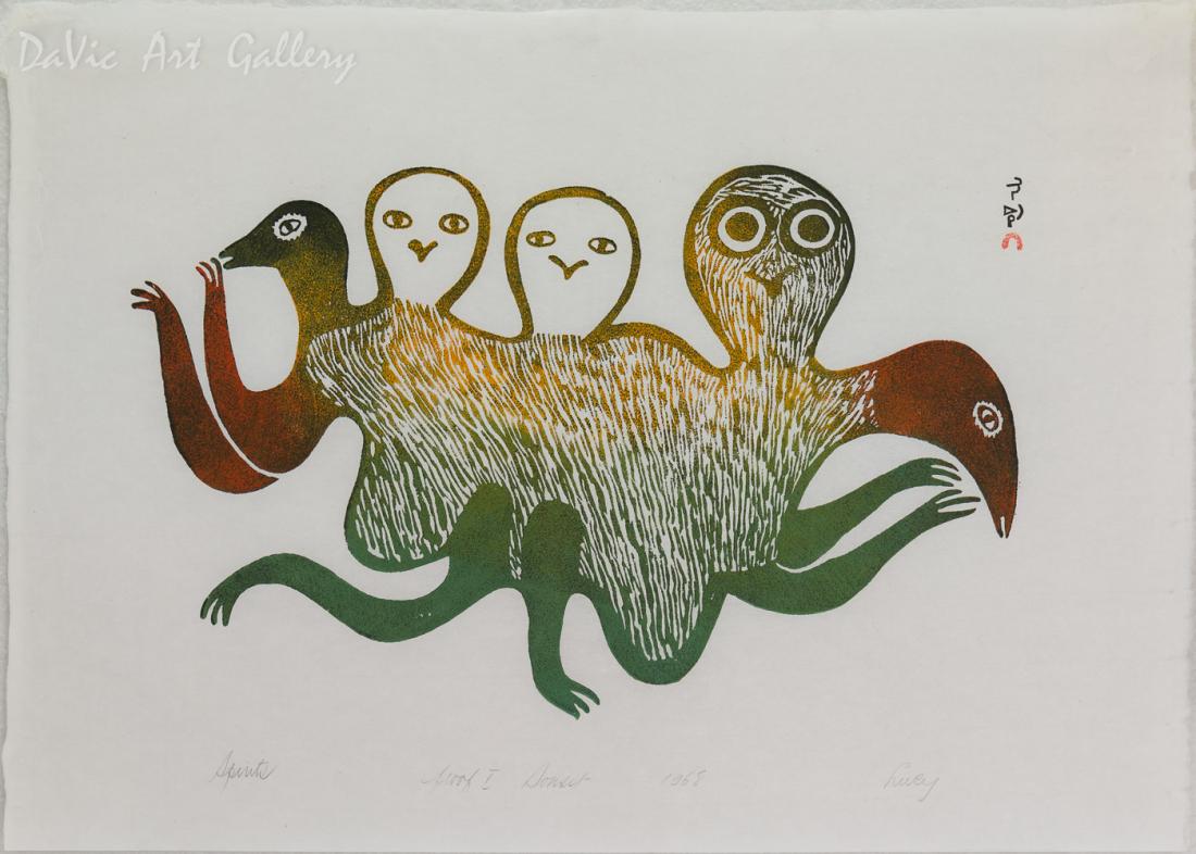 'Spirits' by Lucy Qinnuayuak