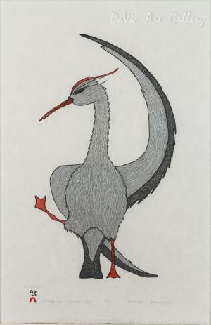 'Stretching Crane' by Padloo Samayualie