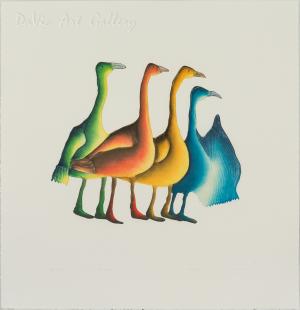 'Gaggle of Geese' by Pitaloosie Saila