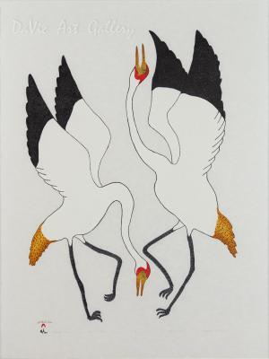 'Dancing Cranes' by Quvianaqtuk Pudlat