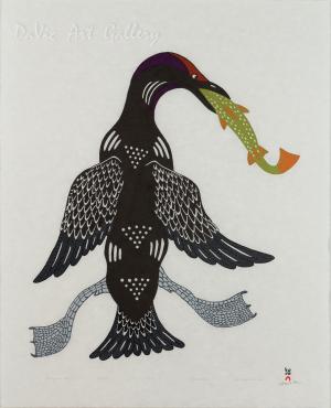 'Triumphant Loon' by Quvianaqtuk Pudlat