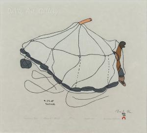 'Namonai's Tent' by Shuvinai Ashoona
