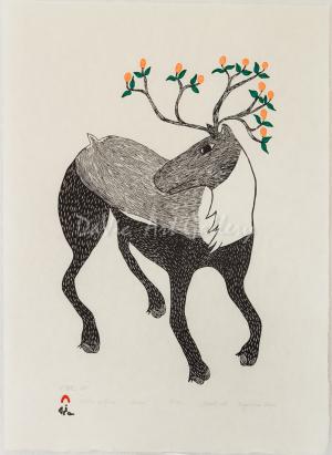 'Caribou in Bloom' by Ningeokuluk Teevee