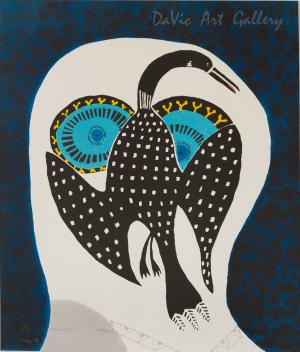 'Owl Dreams of Loon' by Ningeokuluk Teevee