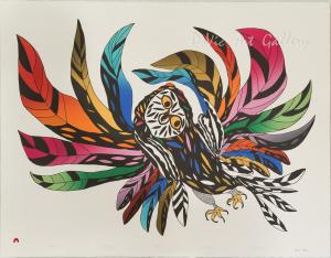 'Festive Owl' by Ooloosie Saila