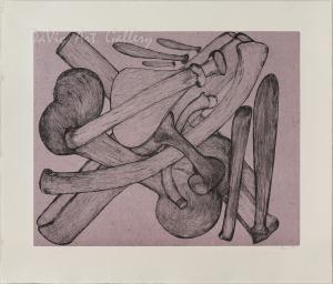 'Purple Bones' by Shuvinai Ashoona