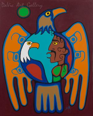 'Shaman Talking to Eagle Spirit' by Jim Oskineegish
